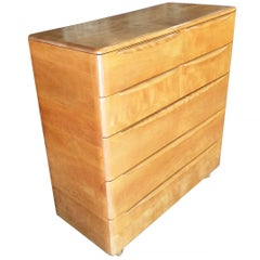 Heywood Wakefied Blonde Streamline Maple Highboy Drawers