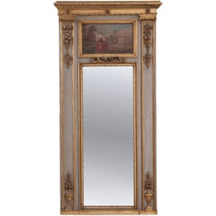 French 19th Century Painted and Gilt Trumeau