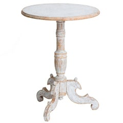 Swedish Antique Round Pedestal Table, circa 1850