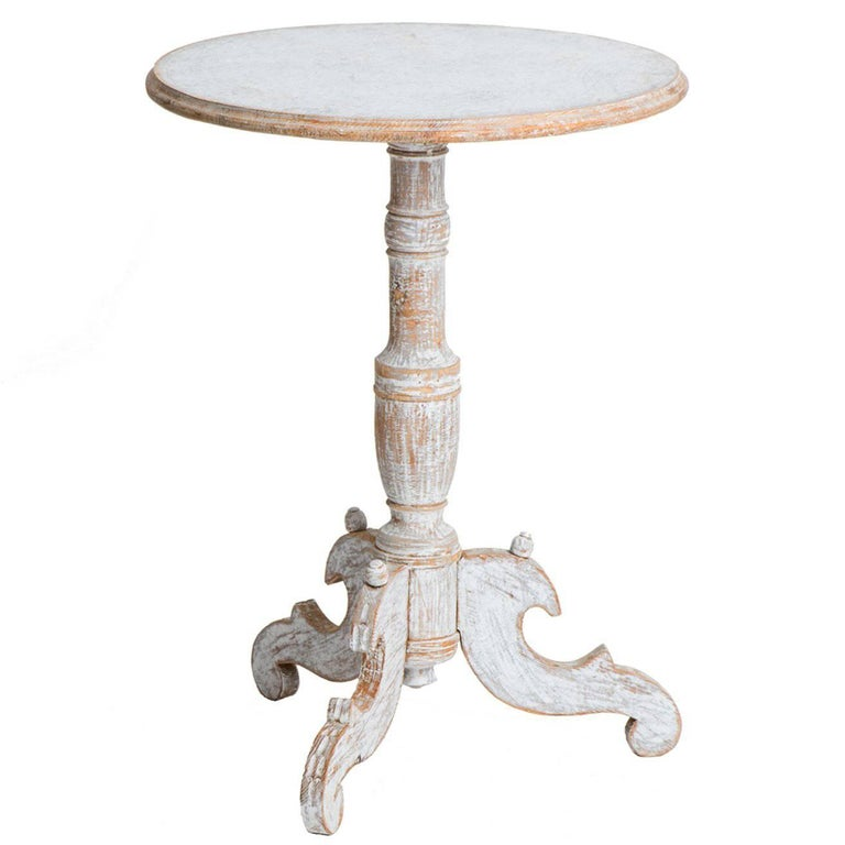 Swedish Antique Round Pedestal Table, circa 1850 1