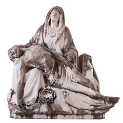 Pieta, Madonna, Virgin, Marble Sculpture, 19th Century