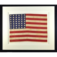 Antique 42 Star American Flag, circa 1889-1890