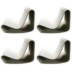 "Four Willy Guhl ""Loop"" Chairs"