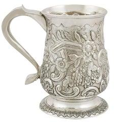 1950s Georgian Sterling Silver Mug by John Langlands I