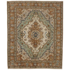 Vintage Turkish Rug with Modern Traditional Style