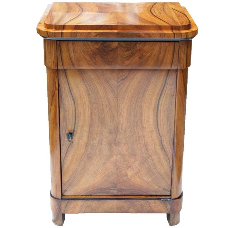 Rare 19th Century Biedermeier Walnut Pillar Cupboard