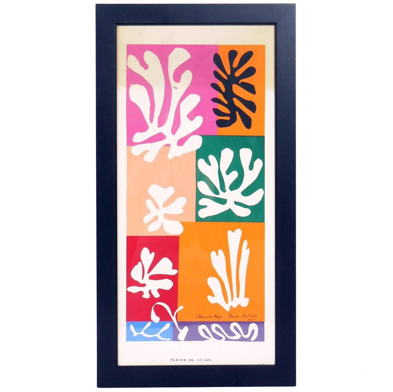 Vibrant Color Lithograph after Henri Matisse