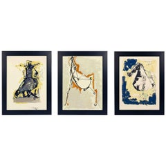 Selection of Three Marino Marini Horse and Rider Lithographs