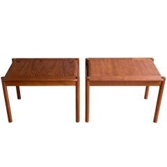 Pair of Teak Side Tables by Sven Ivar Dysthe for Dokka Møbler