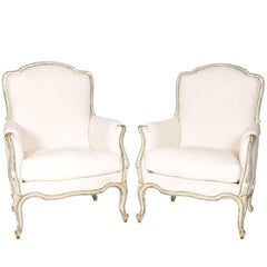 Pair of 19th Century Italian Bergère Chairs