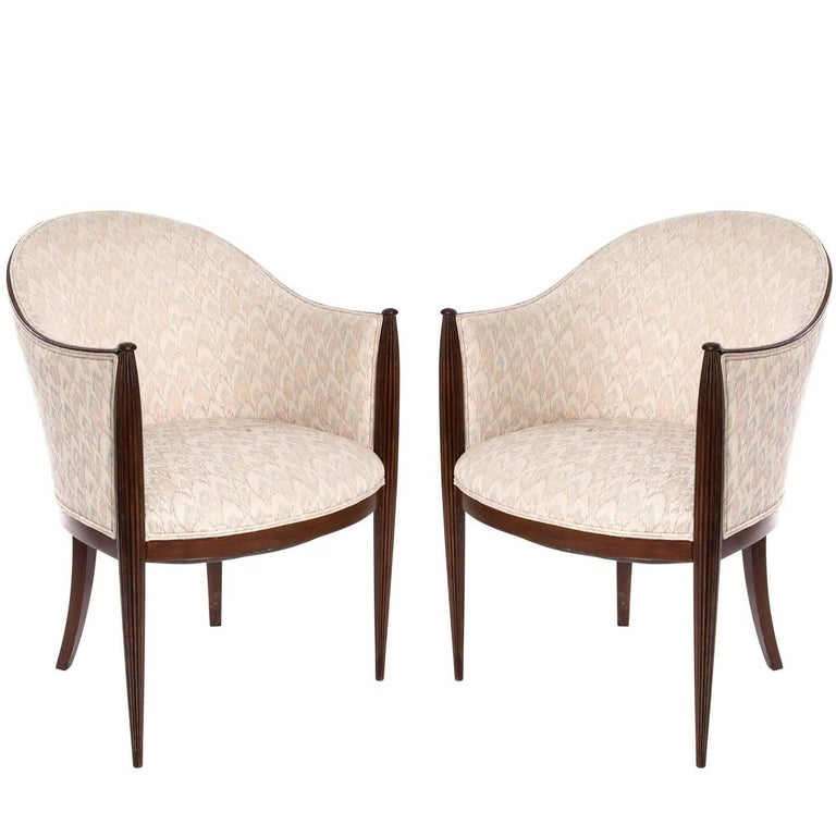 Pair of art deco french club chairs at 1stdibs - Club deco ...