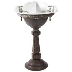 Victorian Cast Iron Corner Sink