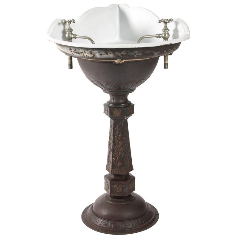 victorian sinks bathroom cast iron corner sink for at 1stdibs 14949