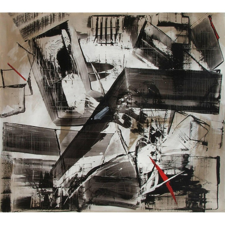 Abstract Painting Titled Urban Exposure No. 10 by Philippe Chambon