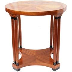 Art Nouveau Mahogany Veneer Round Side Table