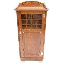 Small Art Nouveau Oak Cabinet / Lectern