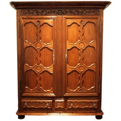 18th Century, Alsatian Baroque Cupboard