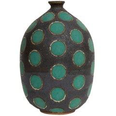 Green Polkadot Vase