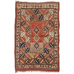 Antique Turkish Accent Rug with Modern Tribal Style, Kitchen, Foyer or Entry Rug