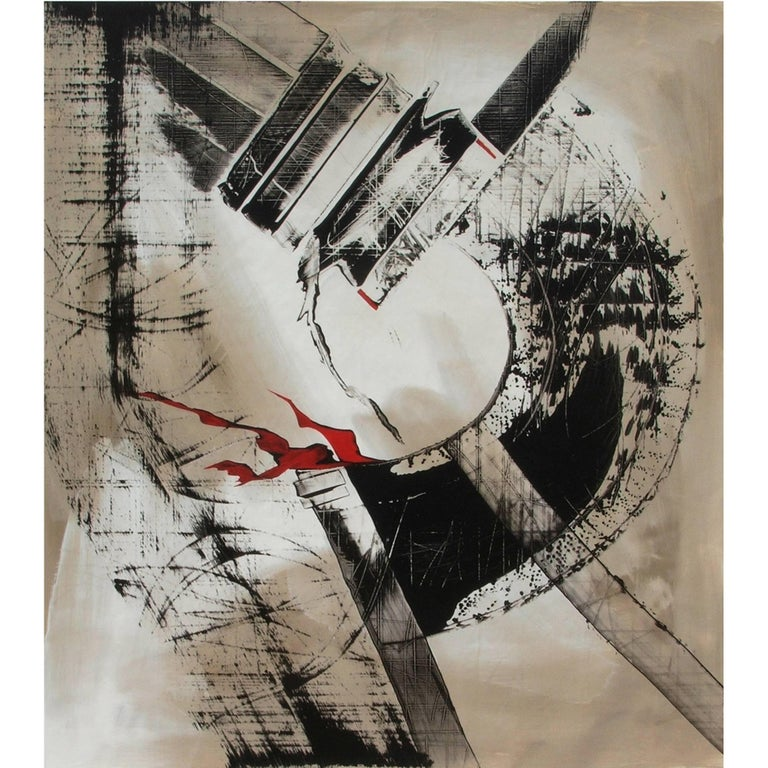 Abstract Painting Titled Urban Exposure No. 11 by Philippe Chambon