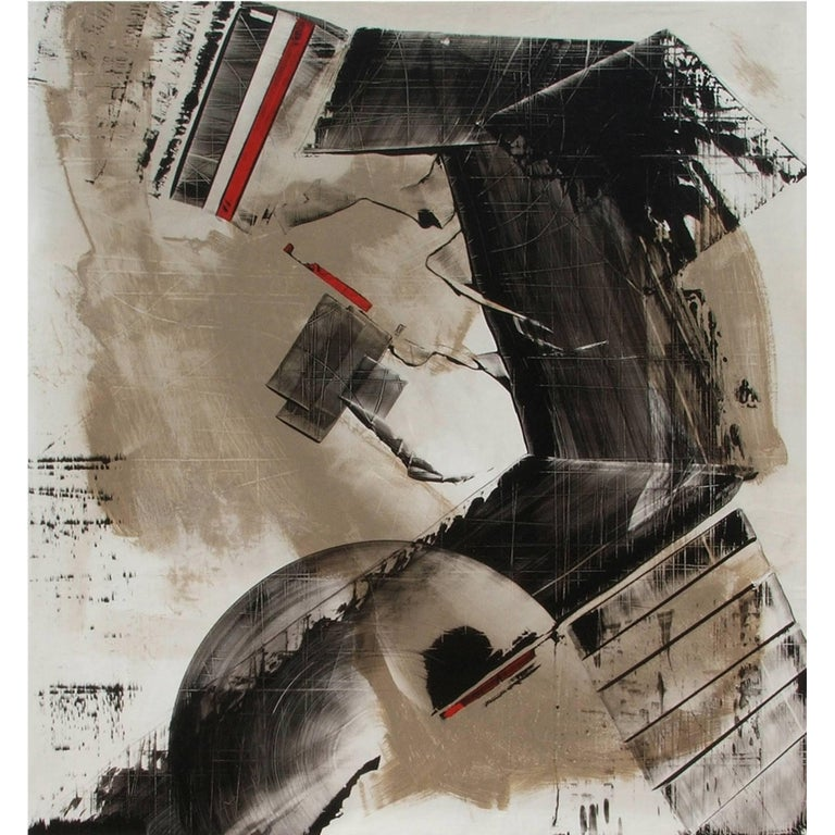 Abstract Painting Titled Urban Exposure No.12 by Philippe Chambon