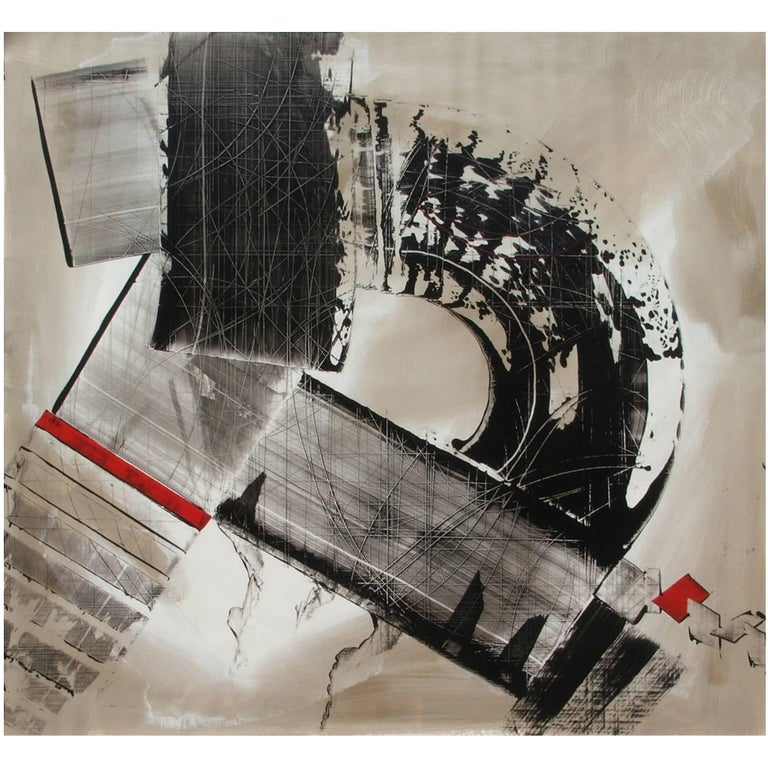 Abstract Painting Titled Urban Exposure No. 13 by Philippe Chambon