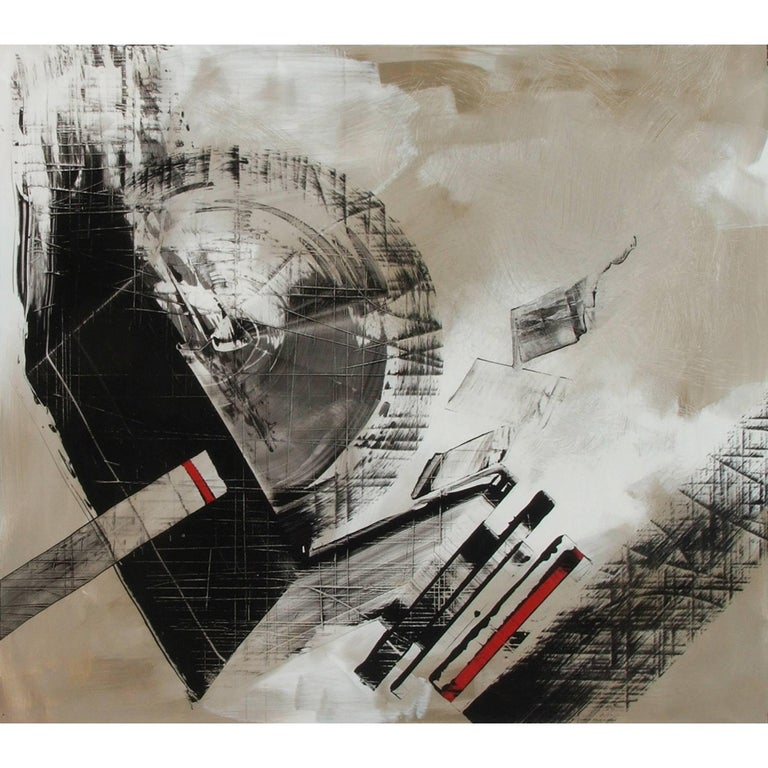 Abstract Painting Titled Urban Exposure No. 14 by Philippe Chambon For Sale