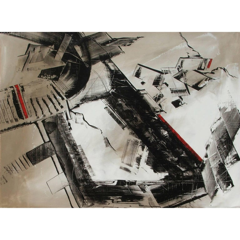 Abstract Painting Titled Urban Exposure No. 15 by Philippe Chambon