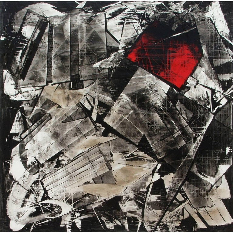 Abstract Painting Titled Urban Exposure No. 16 by Philippe Chambon