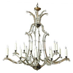 Maria Theresa Gold and Silver Crystal Chandelier