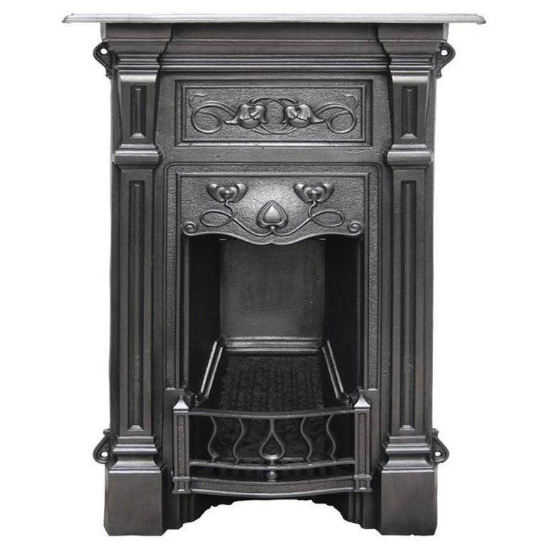 Antique Vintage Bedroom Fireplace: Antique Edwardian Cast Iron Bedroom Fireplace In The Art Nouveau Manner For Sale At 1stdibs