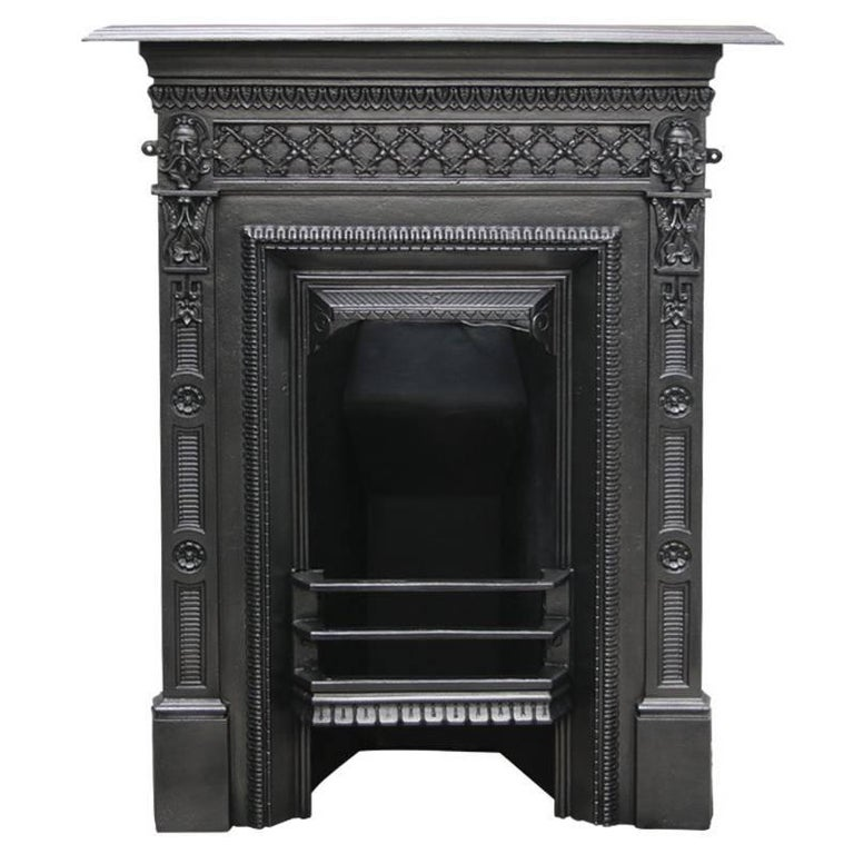 Antique Vintage Bedroom Fireplace: Small Antique Edwardian Cast Iron Bedroom Fireplace For Sale At 1stdibs