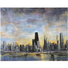 Oil Painting of the Chicago Skyline