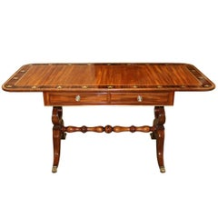 19th Century English Regency Mahogany Sofa Table