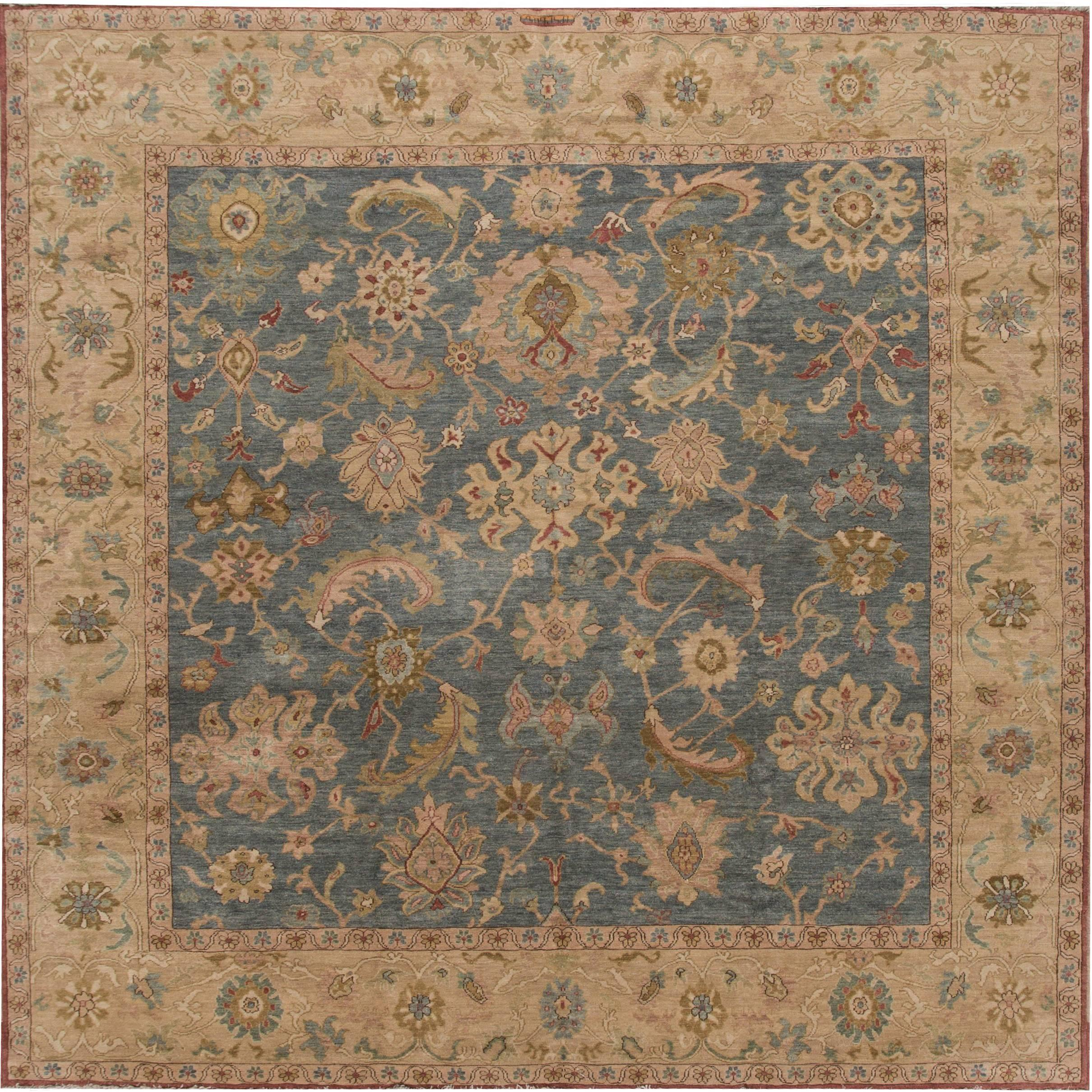 Modern Sultanabad Square Rug