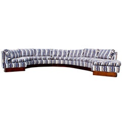 Mid-Century Modern Circular Five-Piece Sectional Sofa John Stuart Erwin Lambeth
