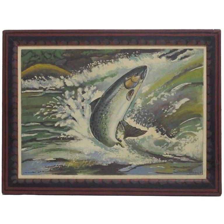 American Folk Art Fish Painting