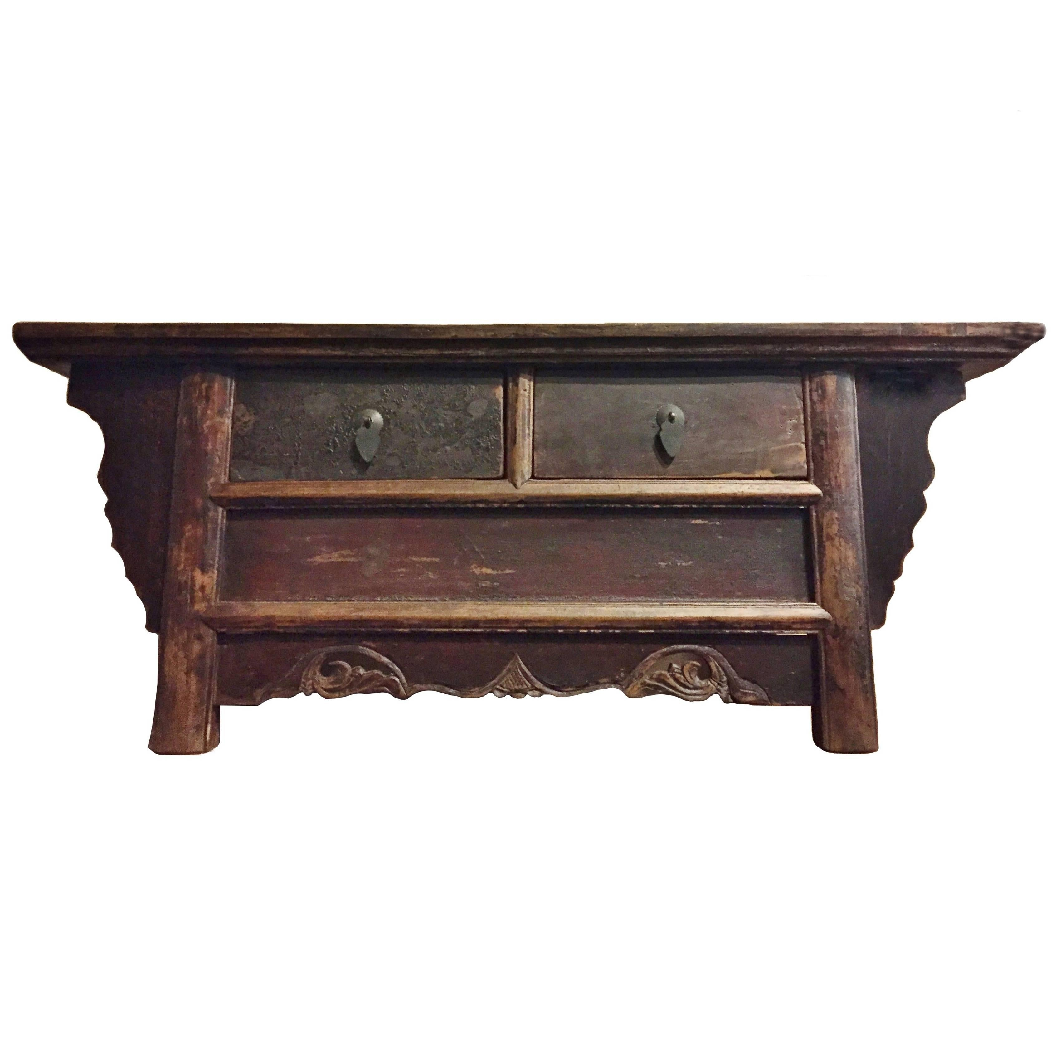 Antique Low Meditation Table II, Low Chest 1