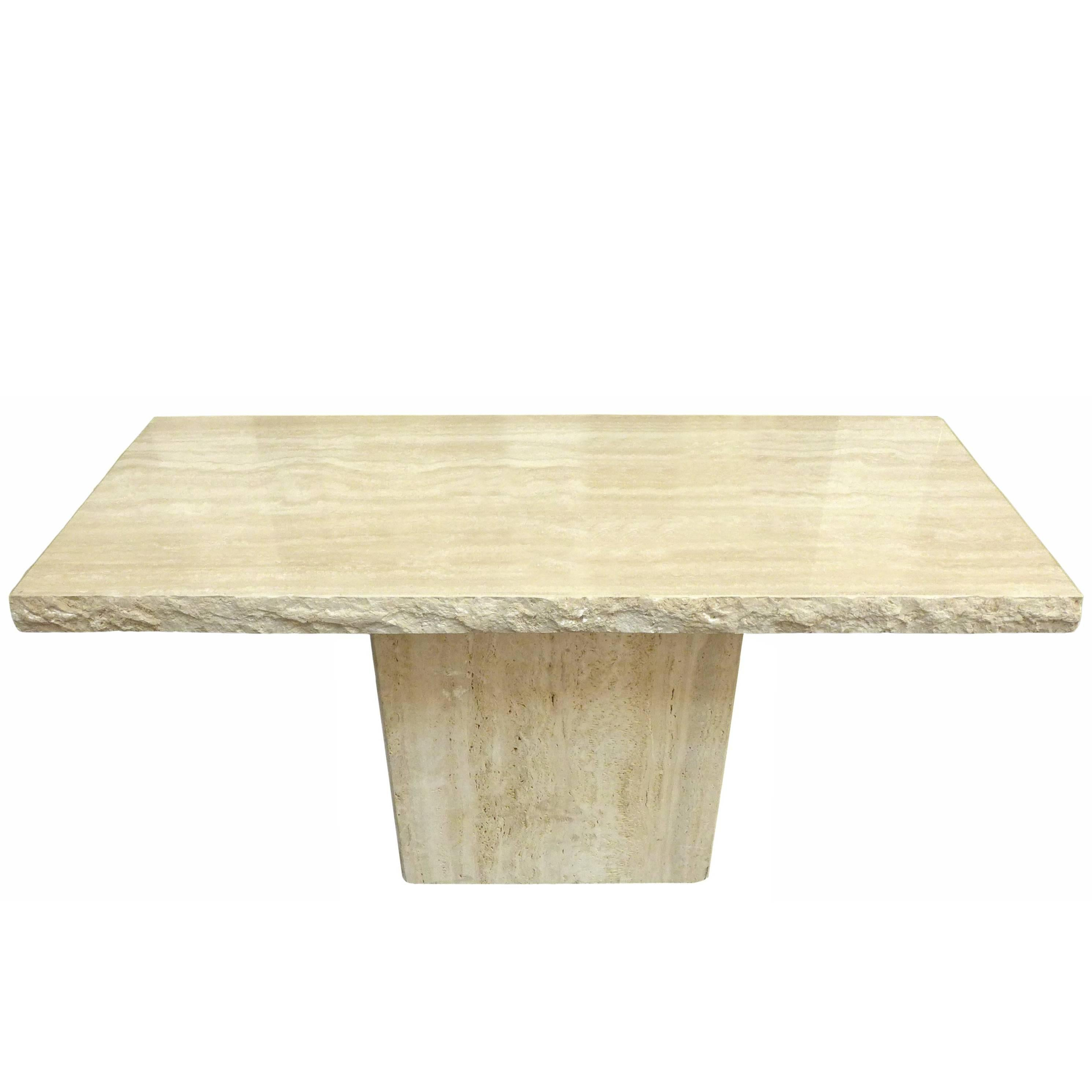 Awesome Travertine Console Table