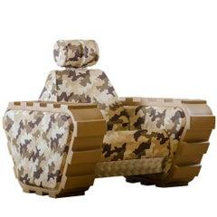 "Armchair ""Armychair Col"" Handcrafted Polyurethane Foam Camo Desert"