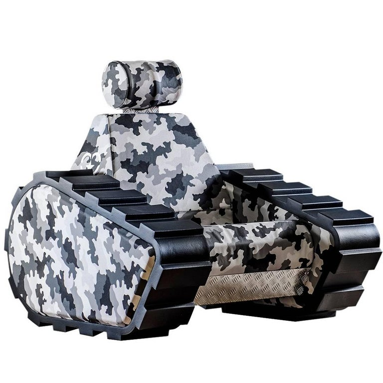 "Armchair ""Armychair Cap "" Handcrafted Polyurethane Foam Camo Urban For Sale"
