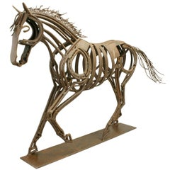 Contemporary Metal Horse Sculpture