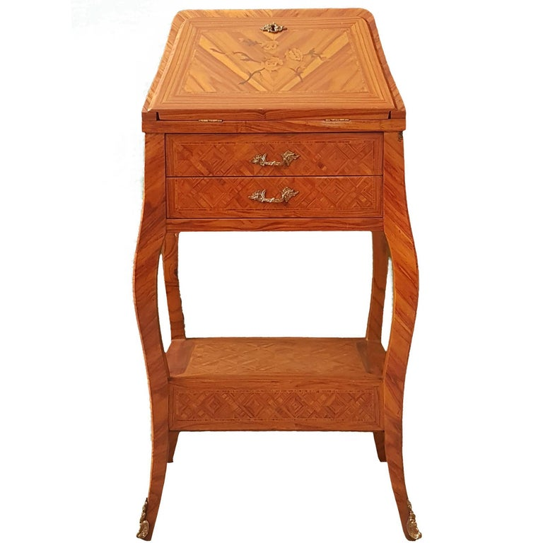 Small wooden side table second half of the 20th century for Table th width