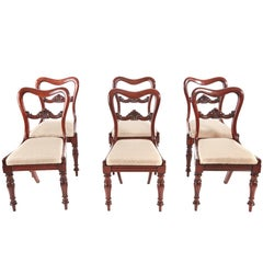 Fine Quality Set of Six Victorian Mahogany Dining Chairs