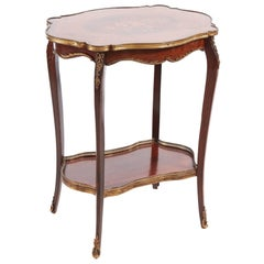 Fine French Marquetry Shaped Top Occasional Table