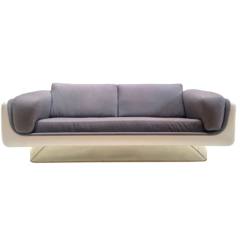 Fiberglass and Lucite Sofa by Steelcase