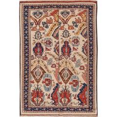 Vintage Persian Flat Weave Soumak Kilim Rug