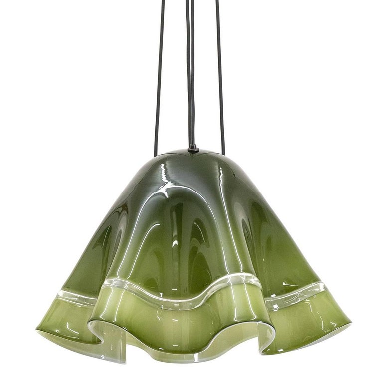 Large Vistosi 'Fazoletto' Pendant, 1960s