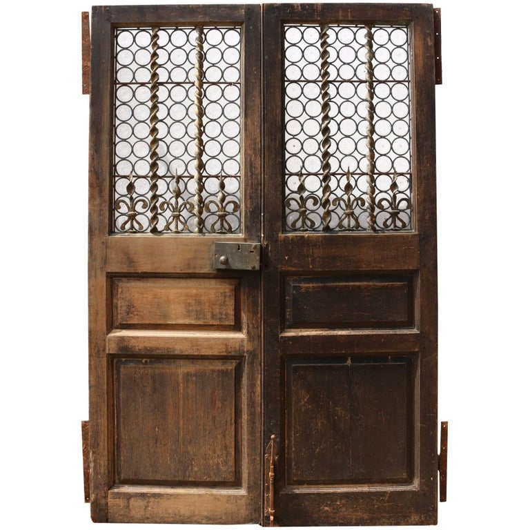 Pair of english exterior double doors for sale at 1stdibs for Double front doors for sale