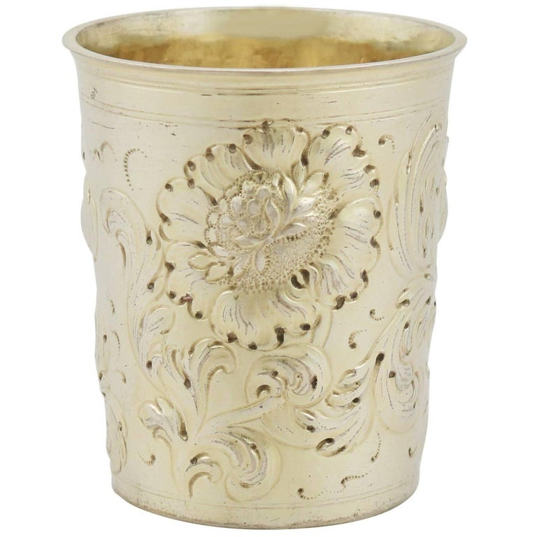 Antique German Silver Gilt Beaker